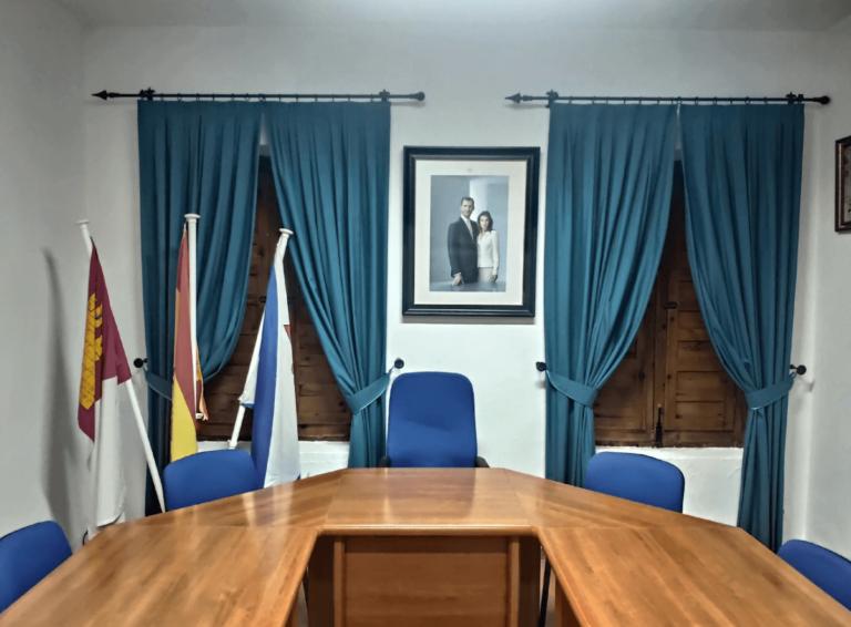 salón de plenos del ayuntamiento de Horcajo de Santiago
