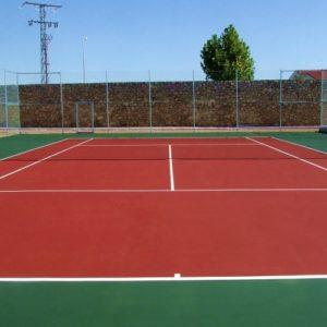 pista de tenis en horcajo de Santiago