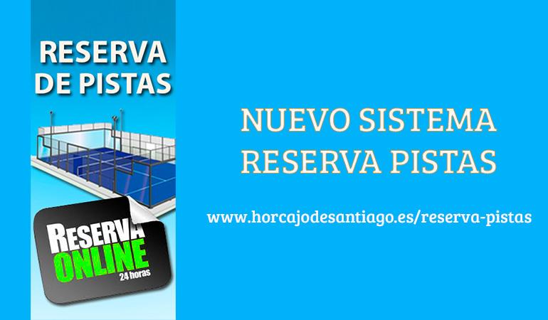 nuevo sistema reserva pistas horcajo de Santiago